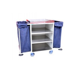 Housekeeping Trolley in M.S Frame & S.S Shelves