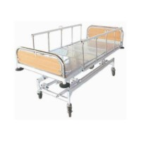 Mechanical ICU Bed (S.S. Bows & Collapsible Side Railings)