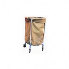 Soiled Linen Trolley (M.S.) with Canvas Bag