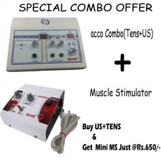 Combo of (Tens + Ultrasound) and Mini Muscle Stimulator (Portable)