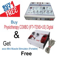 Physiotherapy COMBO (IFT+TENS+US) Digital and Get acco Mini Muscle Stimulator(Portable) Free