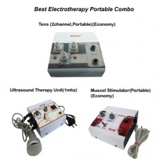acco combo Tens (2 channel,Portable)+ Muscle Stimulator(Portable)+ Ultrasound Therapy Unit(1mhz)