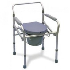 Acco Commode Chair Folding (Chrome) Adjustable