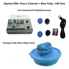 acco combo Tens (2 channel,Portable)+ acco Therapy Exercise Putty (100 grams)