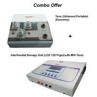 acco combo Tens (2 channel,Portable)+  Interferential therapy Unit (LCD 125 Prgs)(with MS+Tens)