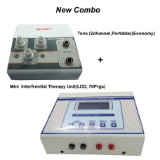 acco combo Tens (2 channel,Portable)+  acco Mini  Interferential Therapy Unit(LCD, 70Prgs)