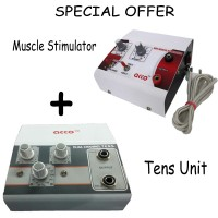 Combo of acco Tens Unit (2 Ch) and Mini Muscle Stimulator(Portable)