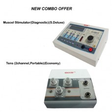 acco combo Tens (2 channel,Portable)+Muscle Stimulator(Diagnostic)(S.Deluxe)