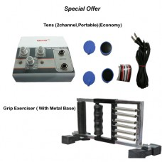 acco combo Tens (2 channel,Portable)+ Grip Exerciser ( With Metal Base)