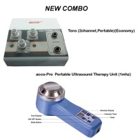 acco combo Tens (2 channel,Portable)+acco-Pro  Portable Ultrasound Therapy Unit (1mhz)