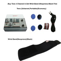 acco combo Tens (2 channel,Portable)+Wristband(Neoprene)(Black)