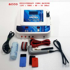 Physiotherapy Combo IFT US MS TENS Combo Machine LCD 125 Programs