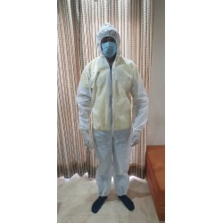 Disposable Protective Coverall, Reusable Anti-Microbial Quarantine Protective Clothing (PPE Kit)
