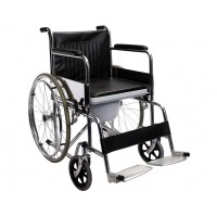 Steel Manual Wheelchair with Commode (Heavy Duty)
