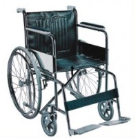 Attendant Steel Manual Wheelchair