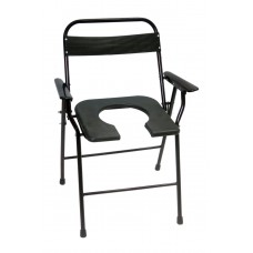 Acco Commode Chair Folding with Armrest and Backrest