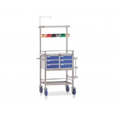 SS Crash Cart Trolley