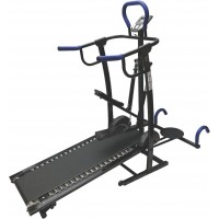 Foldable Manual Treadmil with (Stepper, Twister & Dip Stand)