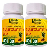 Turmeric Curcumin with Piper Nigram (Curcuma Longa) 30's Capsules(Pack of Two)