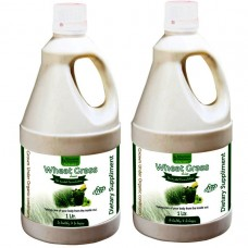 Wheat Grass Juice (with Aloevera & Amla) Sugar Free 1 Ltr. (Pack of Two)