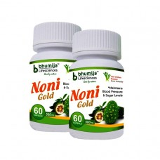 Noni Gold Cap.60's (Pack of Two)