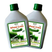 Plain Wheat Grass Juice (Sugar Free) 1 Ltr. (Pack of Two)