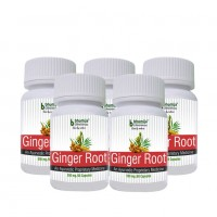 Ginger Root Capsules 60's s (Pack of Five)