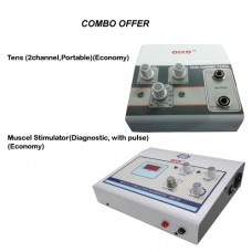 Combo of acco Tens Unit (2 Ch) and Digital Muscle Stimulator(Diagnostic, With Pulse)