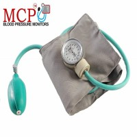 MCP Adult Deluxe Aneroid Sphygmomanometer Blood Pressure Monitor with Adult Black Cuff and Carrying Case And Stethoscope