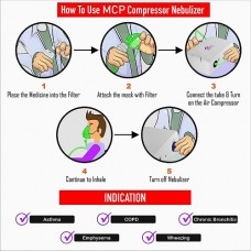 MCP Compressor Nebulizer Machine with complete Kit NE803