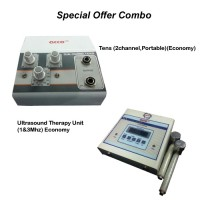 acco combo Tens (2 channel,Portable))+ acco Ultrasound Therapy Unit (1&3Mhz)