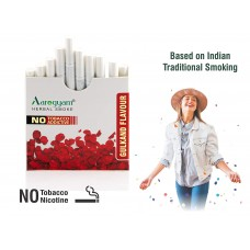 Aarogyam Herbals Tobacco and Nicotine Free Herbal Flavour Smokes For Relieving Stress - 10 Sticks in each Packet (GULKAND, 1 Packet)