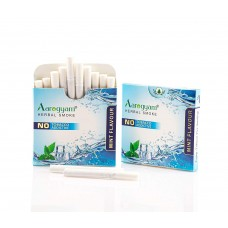 Aarogyam Herbals Tobacco and Nicotine Free Herbal Flavour Smokes For Relieving Stress - 10 Sticks in each Packet (MINT, 1 Packet)