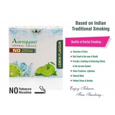 Aarogyam Herbals Tobacco and Nicotine Free Herbal Flavour Smokes For Relieving Stress - 10 Sticks in each Packet (LEMON 1 Packet)