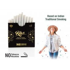 Aarogyam Herbals Relax Smokes For Relieve Stress and Mood Enhance Product for Smokers (10 Sticks) (1 Packet)
