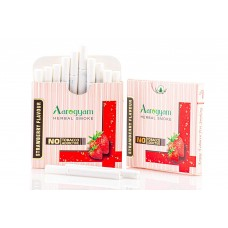 Aarogyam Herbals Tobacco and Nicotine Free Herbal Flavour Smokes For Relieving Stress - 10 Sticks in each Packet (STRAWBERRY, 1 Packet)