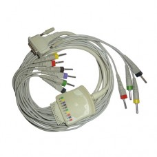 10 Lead ECG Cable Compatible with Aspen 4mm 15pin Banana Type