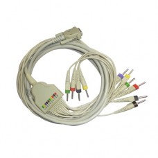 10 Lead ECG Cable Compatible with Cardioline Banana type