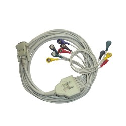 10 Lead ECG Cable Compatible with Concept 15 Pin Snap Type
