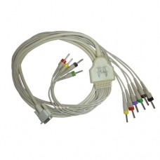 10 Lead ECG Cable Compatible with Contec 4mm 15 pin Banana Type