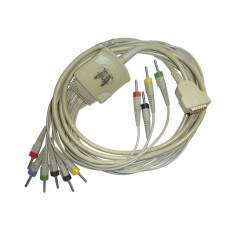 10 Lead ECG Cable Compatible with GE 4mm 15 pin Banana type