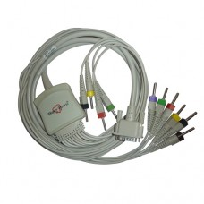 10 Lead ECG Cable Compatible with HP 4mm 15 pin Banana type