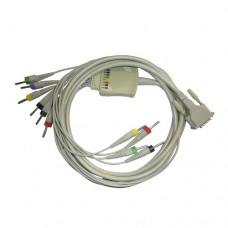 10 Lead ECG Cable Compatible with L&T Vela 4mm 15pin Banana Type