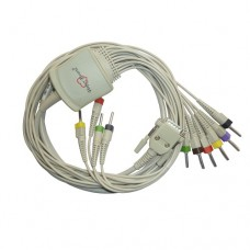 10Lead ECG Cable Compatible with MagicR  4mm 15pin Banana type