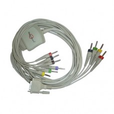 10 Lead ECG Cable Compatible with Mindray  4mm 15pin Banana Type