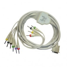 10 Lead ECG Cable Compatible with Nidek  4mm 15pin Banana Type