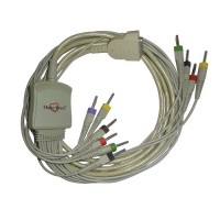 10 Lead ECG Cable Compatible with Philips 4mm 15pin Banana Type