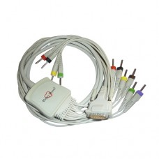 10 Lead ECG Cable Compatible with schiller 4mm 15pin Banana Type