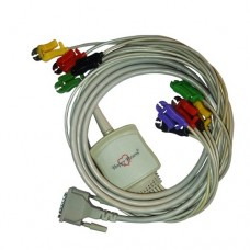 10 Lead ECG Cable Compatible with Schiller 15pin Clip Type