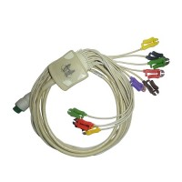 10 Lead ECG Cable Compatible with Schiller 12pin Clip Type